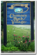 Welcome to Chimney Rock sign.